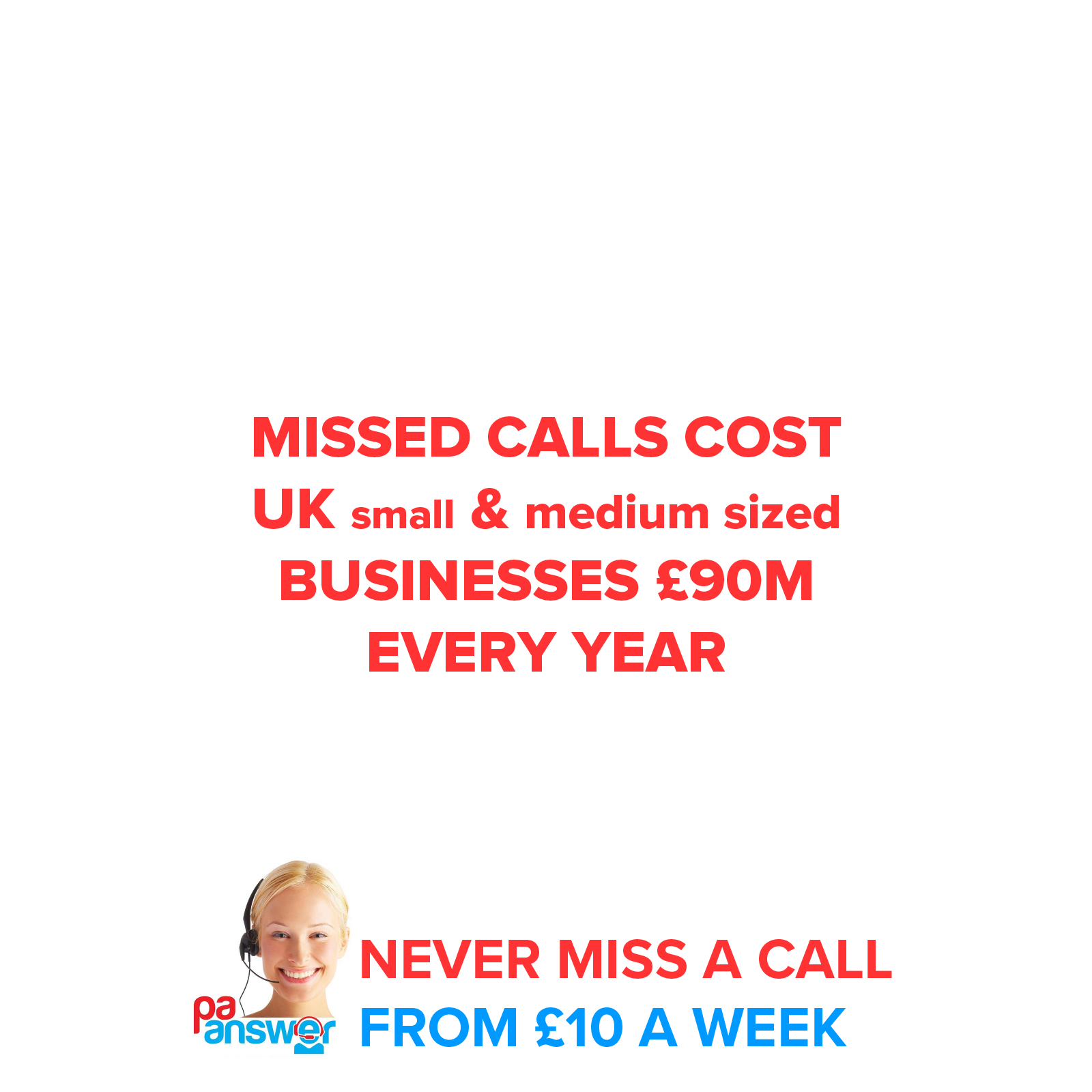 Missed calls cost 90 million a year