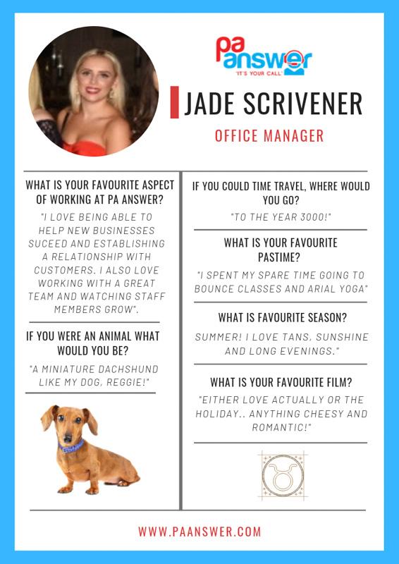 Jade PA Answer Virtual Reception Team