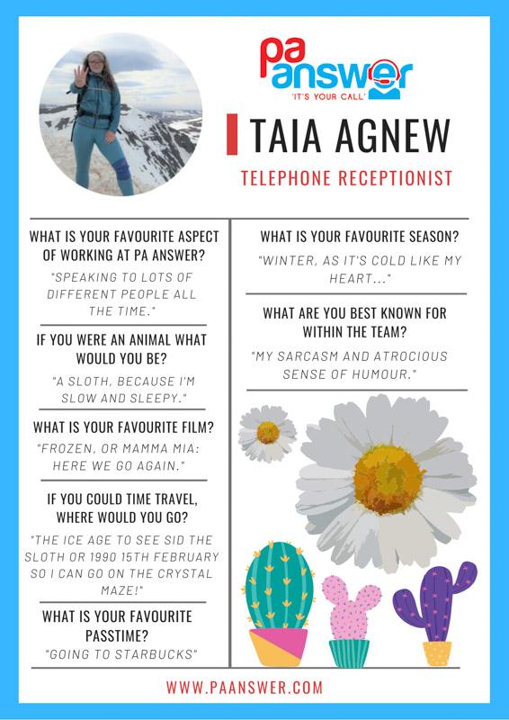 Taia PA Answer Virtual Reception Team