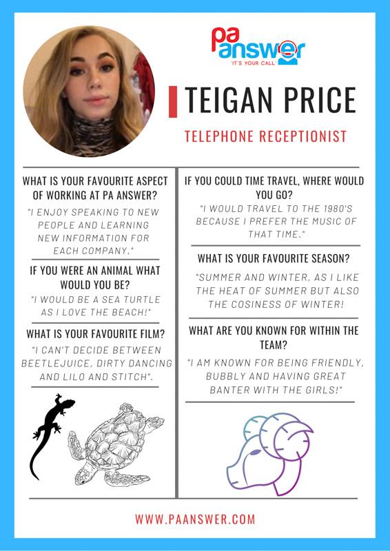 Teigan PA Answer Virtual Reception Team